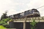 Southbound manifest on the Ohio River bridge