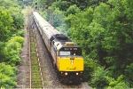 Eastbound passenger train throttles up