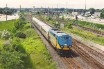 Eastbound passenger train