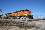 BNSF 4436 head the empty oil train