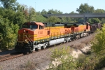 BNSF 5140 with a ballast trains on the Avard Sub