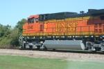 Pacing BNSF 5140 along Highway 51