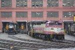 MBTA 1120, NS 3059 & 2582, EMLX 8531 & 8530