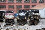 MBTA 1126, NS 6753, 8830, 3256 & 5547