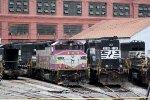 MBTA 1126, NS 6753 & 3256