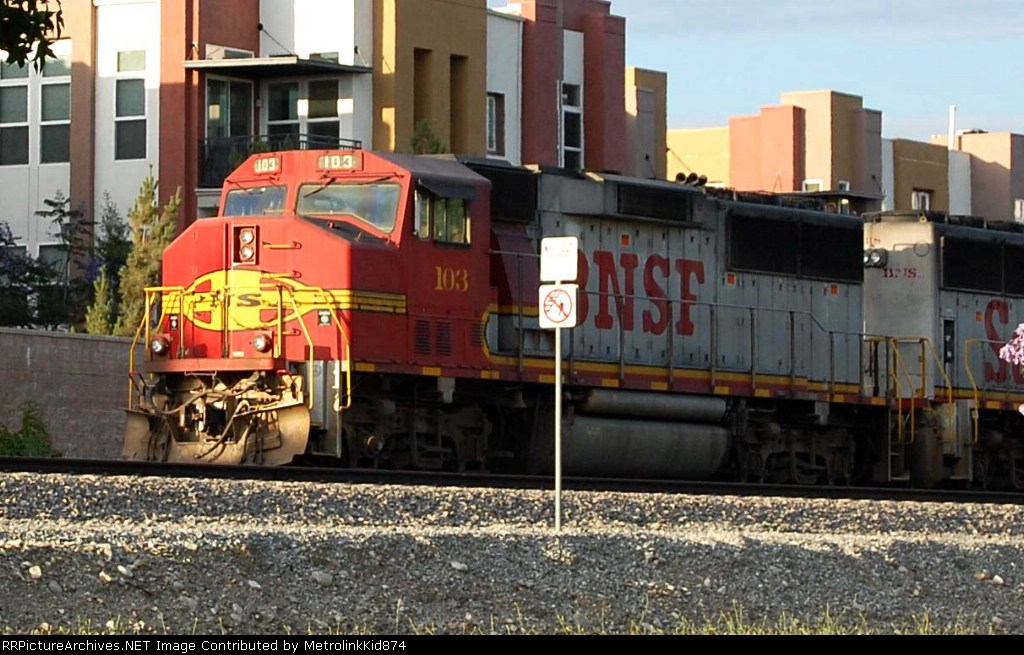 Roster shot of BNSF 103