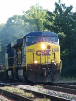 CSX 635 pounding the diamond