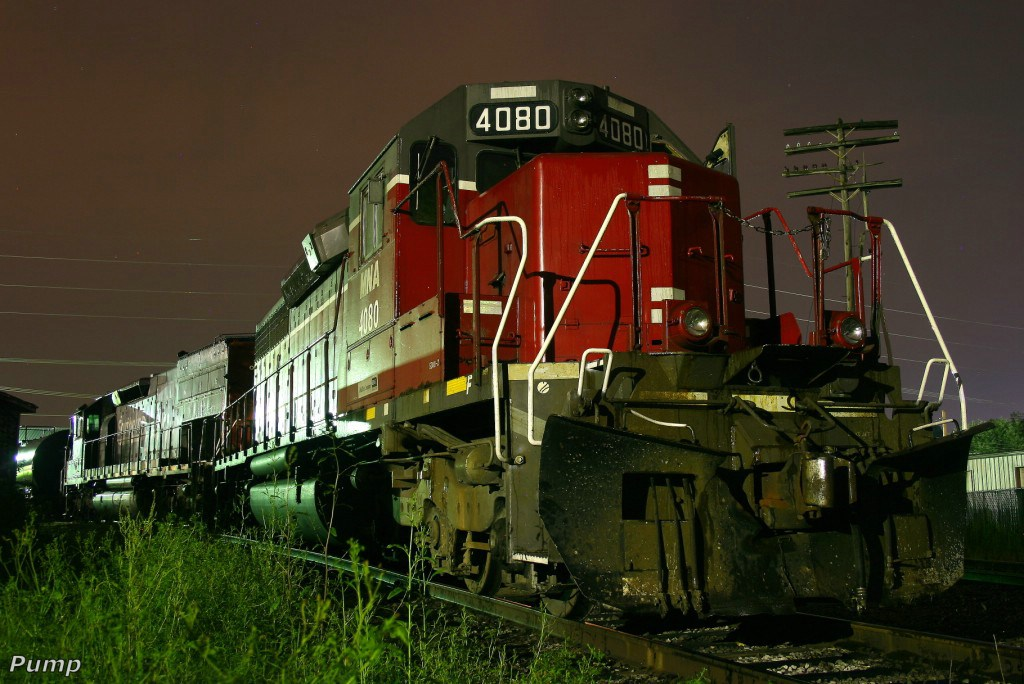 Tied Down Northbound MNA Manifest Train Locomotives