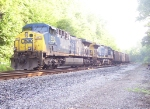 CSX 353 on a SB coal train stopped at Sinks