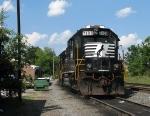 NS 7108 tied up at the depot