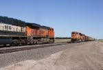 BNSF 6184 West meets BNSF 5976 East
