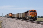 BNSF 9873 West DPU meets BNSF 6065 East