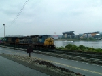 CSX 9026 Q136 With Heinz Field