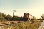 Eastbound grain train on Brooten line