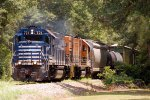 Apalachicola Northern GP15T #721 and Bay Line Railroad GP15T #1599 lead Abbeville & Grimes train Z751-31