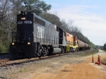 Chattahoochee Bay Railroad GP38 #2883 is spotting DUPX Rail Whales into the storage track where they are awaiting demolition