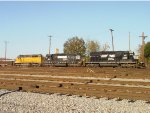 Norfolk Southern SD40-2's #3350 & 3213 and CEFX 2815 work the east end of the yard