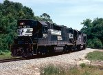 Norfolk Southern GP38-2's #5073 and #5101 lead #96's train