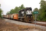 Norfolk Southern GP38-2 #5092 with a 13 car work train