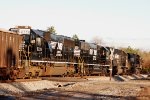 Norfolk Southern SD40E rebuilds #6339 & 6348 trail SD70 #2539 and C40-9W #9884 with Florida bound rock train 64T