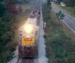 Louisville & Nashville U30C #1487 leads a coal train