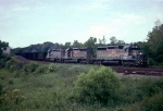 Louisville & Nashville SD40-2 #8033, one of three SD40-2's in today's consist (LN 8032 & LN 3576), lead an ELFX Florida coal train