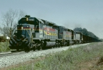 Louisville & Nashville SD40-2 #8078 leading a northbound hopper train back to Kentucky coal country