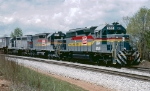 Louisville & Nashville SD40-2 #8159, leading intermodal train SCL #341's Extra