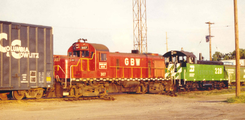 GB&W 307 after being rebuilt