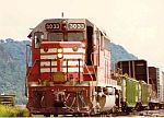 Burlington GP40 leads this train