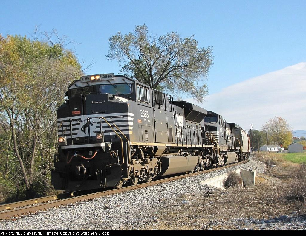NS 2665 & 9460 leading the 44V grain train
