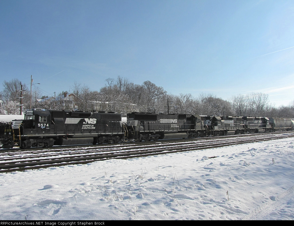 NS 5574, 2544, 5118 and 5568, tied down and cold