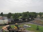 Lead units on this V92 grain train crossing the diamond