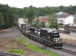 NS 8765 & 9211 will now take this grain train north to Linville