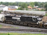 NS 9211, 2nd. lead unit on the V92 grain train heading to Linville