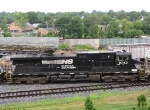 NS 9743, pusher unit for the trip north on the V92 grain train