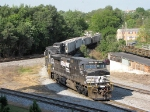 The 44T heads north through town and on to Linville
