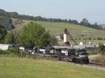 NS 44T grain train crossing Buttermilk Creek Rd.