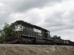 NS 3379, (Ex-CR 6445) on a MofW train tied down