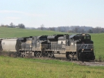 Once again the 44V does not disappoint as these two very loud Thoroughbreds bring 75 grain cars up a grade