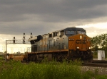 CSX GEVO and some storm lighting