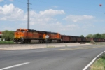 BNSF 7261 Leads Coal Train Into Golden