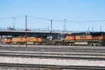 BNSF 1092, NS 9893, BNSF 7529, BNSF 4130 & BNSF 739 Headed Into The Yard