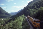 Head End Power on MEC freight beginning descent of Crawford Notch