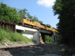 UP SD70Ms Over the Marion Branch