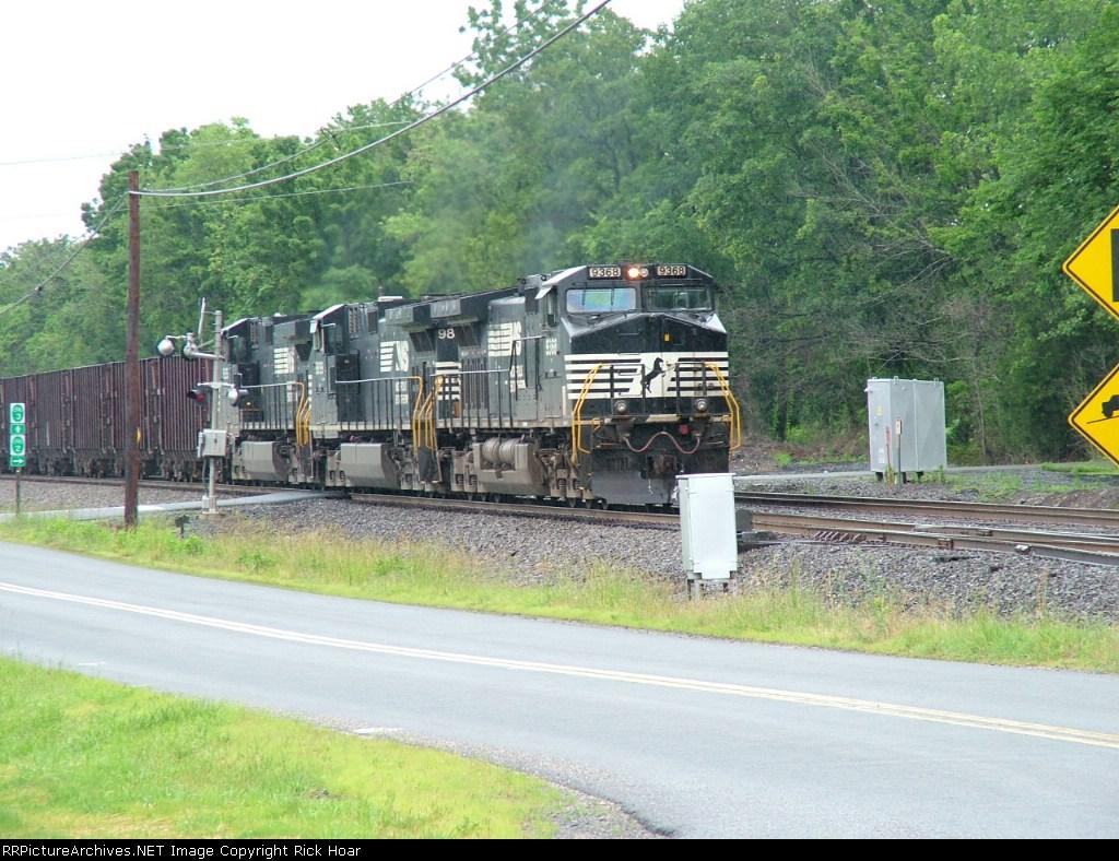 Herzog Ballast Train dumping at Bealton, VA.
