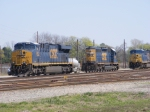 CSXT 882, 8315, & 768 sit on the Engine Track