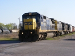 CSX A761 departs for Atlanta with a NICE set of power!