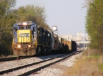 CSXT 7640 leads CSX A761 to Atlanta