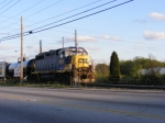 Cool Shot of CSXT 6010 from my car on Y221